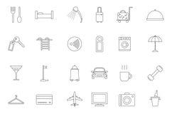 Hotel service black icons set Royalty Free Stock Photo