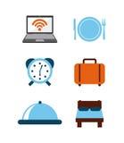 Hotel service design Stock Image
