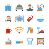 Hotel Service Flat Design Icons Royalty Free Stock Photography