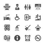 Hotel service icon set 4, vector eps10 Royalty Free Stock Photography