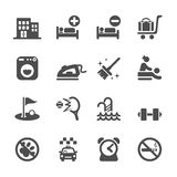 Hotel service icon set 6, vector eps10 Stock Image