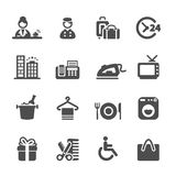 Hotel service icon set 9, vector eps10 Royalty Free Stock Photo