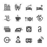 Hotel service icon set 8, vector eps10 Royalty Free Stock Photo