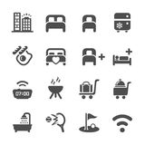 Hotel service icon set 10, vector eps10 Royalty Free Stock Image