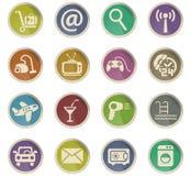 Hotel service icon set Royalty Free Stock Photos