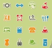 hotel service icon set Royalty Free Stock Photo