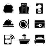 Hotel service icons Royalty Free Stock Photos