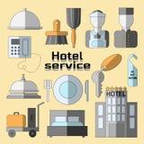 Hotel service icons set Stock Photo