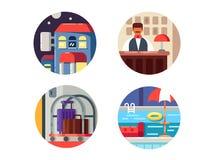 Hotel service icons set Stock Image