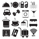 Hotel Service Icons Set Stock Image
