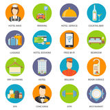 Hotel Service Icons Set Royalty Free Stock Image