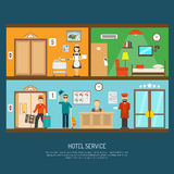 Hotel service illustration Royalty Free Stock Images