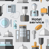 Hotel service pattern Stock Photography