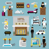 Hotel service set A Stock Images
