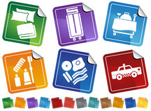 Hotel Service Sticker Button Set Royalty Free Stock Images