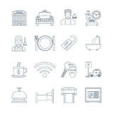 Hotel Service Thin Line Icons Stock Image