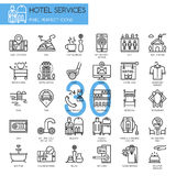 Hotel Service , thin line icons set Royalty Free Stock Photography