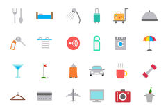 Hotel service vector icons set Royalty Free Stock Image