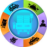 Hotel Service Wheel royalty free illustration