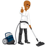 Hotel Service Worker Vacuum Cleaner Royalty Free Stock Photography
