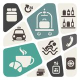 Hotel services background stock illustration