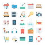 Hotel and Services Colored Vector Icons 1 Stock Photography
