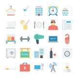 Hotel and Services Colored Vector Icons 2. Need some simple yet attractive icons for your hotel site or blog? This Hotel and Services Vector Icons pack includes Royalty Free Stock Image
