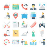 Hotel and Services Colored Vector Icons 3 Stock Images