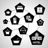 Hotel services concept Royalty Free Stock Photos
