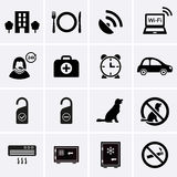 Hotel Services and Facilities Icons. Set 2. Stock Photos