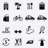 Hotel Services and Facilities Icons. Set 3. Royalty Free Stock Photos