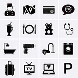 Hotel Services and Facilities Icons. Set 1 Stock Image