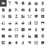 Hotel services and facilities vector icons set Royalty Free Stock Photography