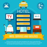 Hotel Services And Facilities Vector Illustration Royalty Free Stock Images