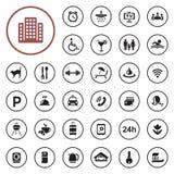 Hotel services icon set Royalty Free Stock Photos