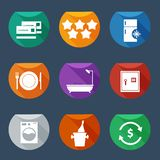 Hotel services icons Flat UI  set 2 Stock Image