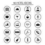 20 hotel services icons. Isolated. Vector. Illustration Stock Photo