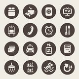 Hotel services icons Stock Photo