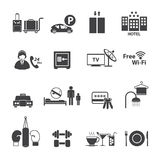 Hotel Services Icons set Royalty Free Stock Image