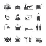 Hotel Services Icons set Royalty Free Stock Photography