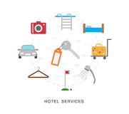 Hotel services icons Royalty Free Stock Images