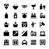 Hotel Services Vector Icons 5 Stock Images