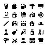 Hotel Services Vector Icons 5 Stock Photo
