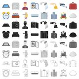 Hotel set icons in cartoon style. Big collection of hotel vector symbol stock illustration. Hotel set icons in cartoon style. Big collection of hotel vector Stock Photography