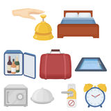 Hotel set icons in cartoon style. Big collection of hotel vector symbol stock illustration. Hotel set icons in cartoon style. Big collection of hotel vector Royalty Free Stock Photos