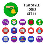 Hotel set icons in flat style. Big collection of hotel vector symbol stock illustration. Hotel set icons in flat style. Big collection of hotel vector symbol Stock Photo