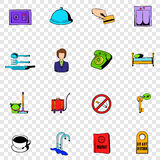 Hotel set icons Royalty Free Stock Images