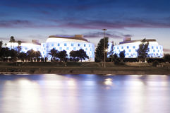 Hotel in Seville. Hotel to the shore of the Guadalquivir in Seville Stock Images