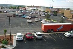 Hotel and Shopping Mall Parking Lots stock photography