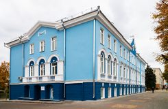 Hotel Shvanvich in Voronezh, known as the House with lions, in t Stock Image